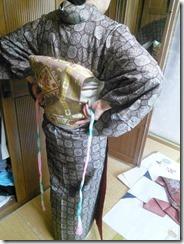 大島紬に角出しの練習 (2)