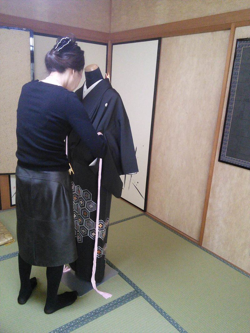 礼装着の着付けコース(*^_^*)♪