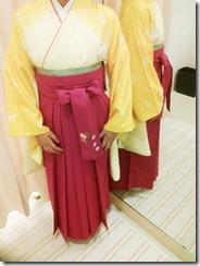 かわいい袴の出張着付(^^♪