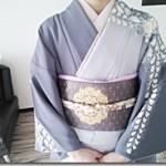辻が花のかっこいい着物の出張着付に(^-^)♪