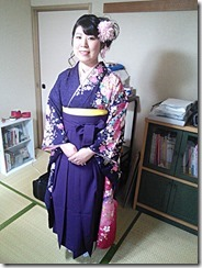 ヘアメイクと袴の出張着付 (1)