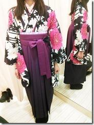 かわいい袴の出張着付 (2)