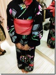浴衣にかわいい半幅帯結びを着付けに (2)