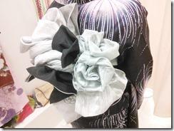 リボン帯を浴衣に着付けて (2)