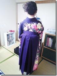 ヘアメイクと袴の出張着付 (3)