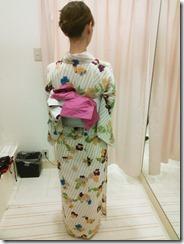 浴衣の着始め「とうかさん」出張着付 (3)