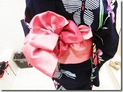 浴衣にかわいい半幅帯結びを着付けに (4)