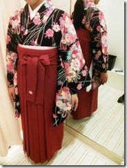 かわいい袴の出張着付 (4)