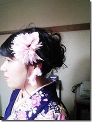 ヘアメイクと袴の出張着付 (5)