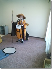 神田山荘に弘法大師の出張着付け (6)