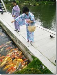 着物で縮景園のお茶会に (11)