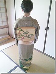 色留袖に帯柄ピッタリの出張着付 (1)