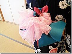 花火大会に浴衣とリボン帯のアレンジで (1)