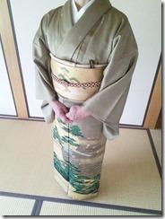 色留袖に帯柄ピッタリの出張着付(^^♪
