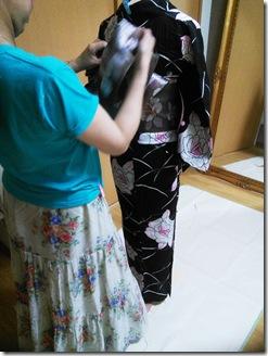 かわいい半幅帯結びを浴衣に٩ (2)