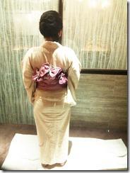 七夕に浴衣の出張着付け (2)