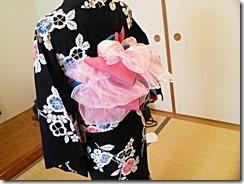 花火大会に浴衣とリボン帯のアレンジで (2)
