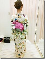 浴衣の可愛い半幅帯結び (3)