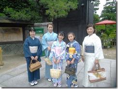 着物で縮景園のお茶会に (4)