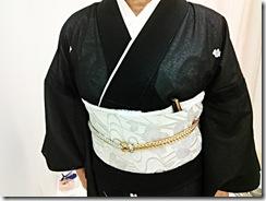 絽の黒留袖(*^_^*)♪