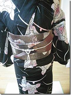 かわいい半幅帯結びを浴衣に٩ (4)