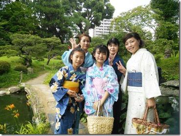 着物で縮景園のお茶会に (6)