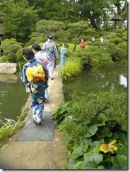 着物で縮景園のお茶会に (7)