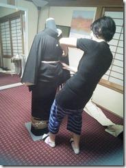 高須教室の着付テスト (1)