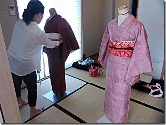 普段着の他装着付け教室(^o^)♪