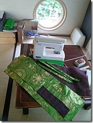 袋帯と夏の名古屋帯をバッグに(*^_^*)♪