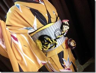 三連戦の最終日 タイガー柄の着物でズムスタへ(^o^)♪
