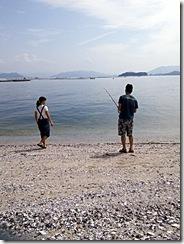 お城の式場から見える宮島へ (6)