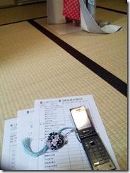 美容師さんの着付テスト (2)