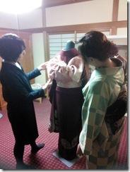 高須教室へ振袖着付けの認定試験に (2)
