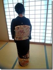 着付師の練習会で留袖を (3)