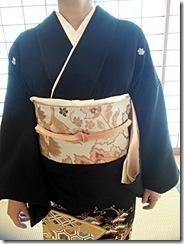 着付師の練習会で留袖を (4)