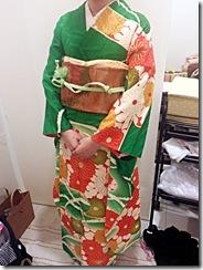 着付師 吉田さんの振袖着付 (2)