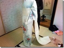 普段着の着物着付け練習 (2)
