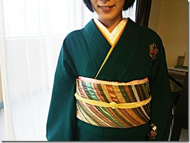 七五三詣りにシックで素敵なお着物と帯 (2)