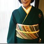 七五三詣りにシックで素敵なお着物と帯で(^o^)♪