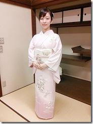 広島県神社庁CM撮影の着付に速谷神社へ (2)