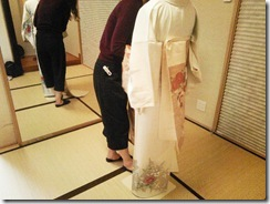 普段着の着物着付け練習 (4)