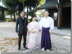 広島県神社庁CM撮影の着付に速谷神社へ (9)