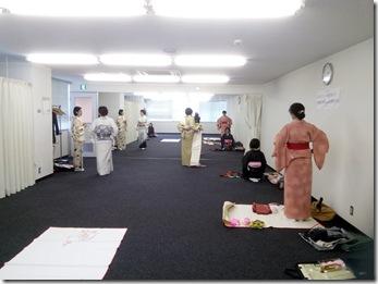 広島リビングカルチャーで着付け教室(*^_^*)♪