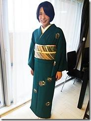 七五三詣りにシックで素敵なお着物と帯