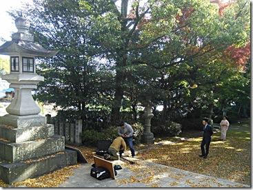 広島県神社庁CM撮影の着付に速谷神社へ