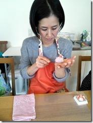和菓子作り体験へ (11)
