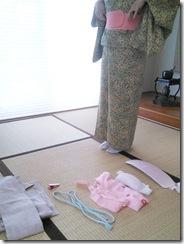 普段着着付のテスト (5)
