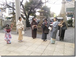 美和きもの教室の初詣&サンルート広島へ (2)