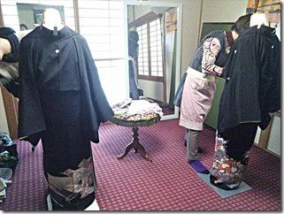 高須の教室で礼装着の着付テスト (2)